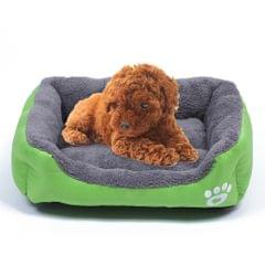 Candy Color Four Seasons Genuine Warm Pet Dog Kennel Mat Teddy Dog Mat, Size: S, 43×32×10cm (Green)