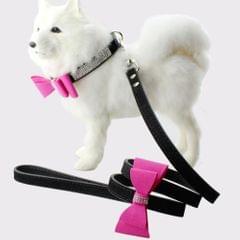 Flocking Diamond Studded Bowknot Pet Collar Dog Collar Pet Products, Size: S, 1.5 * 37cm(Black)                                               ()