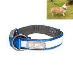 Tuffhound 1427 Nylon + Submersible + Reflector Bar Adjustable Dog Collar, Adjustable Range: 1.5x(23-30)cm,Size:XS(Blue)