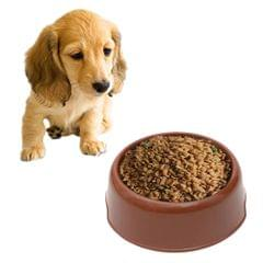 Dog Cat Light Candy Color Plastic Material Single Pets Bowls(Coffee)