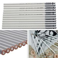 12 PCS White Art Sketch Drawing Non-toxic Pencils Chalk