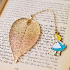 3 PCS Cute Cartoon Leaf Texture Metal Bookmark Business Gift Student Stationery(Alice)