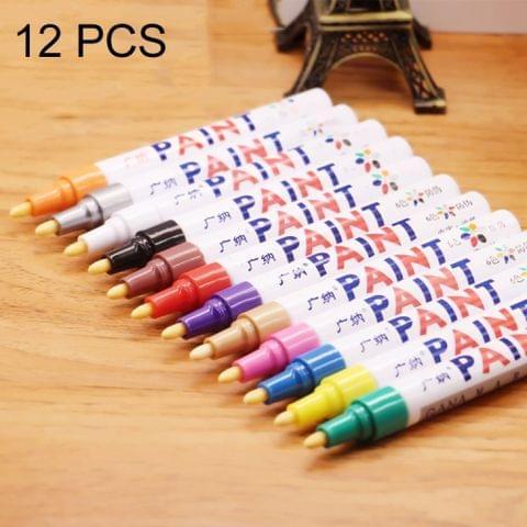 12 PCS / Box Drawing Scrapbooking Photo Album Watercolor Pens Highlighter Marker Pen Set