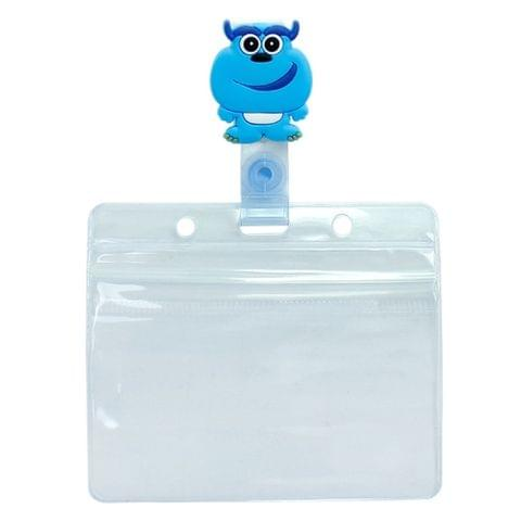3PCS Monster University Transparent Retractable Badge ID Card Clip Badge Lanyard Card Holder 1