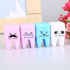 Creative Stationery Cartoon Teeth Shape Pencil Sharpener Manual Mechanical Pencil Sharpener for School Office Supplies
