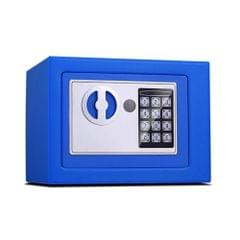 17E Home Mini Electronic Security Lock Box Wall Cabinet Safety Box without Coin-operated Function (Blue)