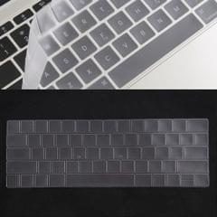 Keyboard Protector Silica Gel Film for MacBook Pro 13 / 15 with Touch Bar (A1706 / A1989 / A1707 / A1990)(Transparent)