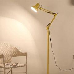 Living Room Hotel Lighting Night Adjustable Floor Lamps Study Reading Bedside Light, AC 110-240V(Yellow)