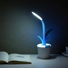 Clivia Foldable Rechargeable Touch Switch Eye Protection Mini Reading LED Desk Lamp Colorful Atmosphere Light(Blue)