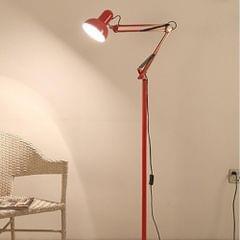 Living Room Hotel Lighting Night Adjustable Floor Lamps Study Reading Bedside Light, AC 110-240V(Red)