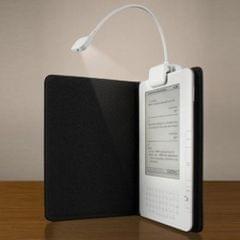 0.5W Portable Flexible Mini Clip Reading Lamp(White)