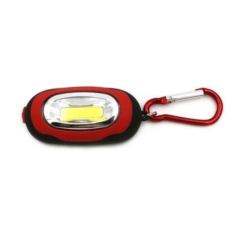 Portable Mini Keychain Pocket Torch COB LED Light Flashlight Lamp with 3 Modes(Red)