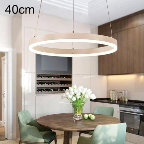 Modern Minimalist Ring LED Chandeliers Restaurant Bedroom Creative Personality Round Aluminum Lamps, Single Circle 40cm