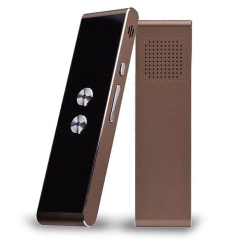 Portable Smart Voice Translator Upgrade Version for Learning Travel Business Meeting 3 in 1 voice Text Photo Language Translator(brown)