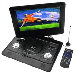 10 inch TFT LCD Screen Digital Multimedia Portable DVD with Card Reader & USB Port, Support TV (PAL / NTSC / SECAM) & Game Function, 180 Degree Rotation, Support SD / MS / MMC Card(Black)
