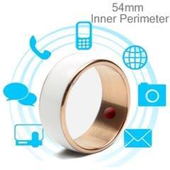 JAKCOM R3F 18K Rose Gold Smart Ring, Waterproof & Dustproof, Health Tracker, Wireless Sharing, Push Message, Inner Perimeter: 54mm(White)