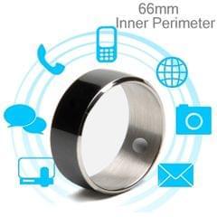 JAKCOM R3F Amorphous Titanium Alloy Smart Ring, Waterproof & Dustproof, Health Tracker, Wireless Sharing, Push Message, Inner Perimeter: 66mm(Black)