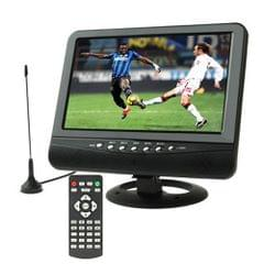 9.5 inch TFT LCD Color Portable Analog TV with Wide View Angle, Support SD/MMC Card, USB Flash disk, AV In, FM Radio function(Black)