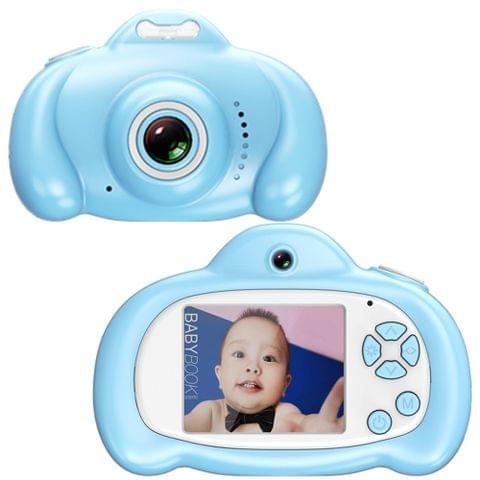 16.0 Mega Pixel Dual-Camera 2.0 inch Screen Cartoon HD Digital SLR Camera for Children (Blue)