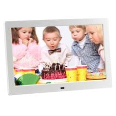 HSD-P520 10.1 inch LCD Display Digital Photo Frame with Holder & Remote Control, Support USB / SD Card Input, Built in Stereo Speaker, EU/US/UK Plug(White)