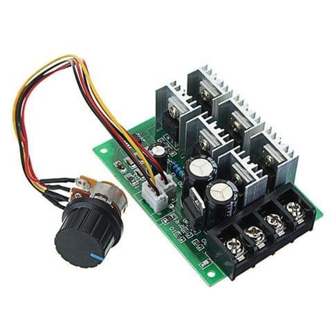 LDTR-WG0268 DC 9-55V 40A 2000W PWM DC Motor Pump Speed Regulator High Power Speed Controller (Green)