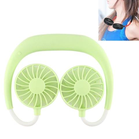 Multi-function Portable Adjustable Wearable Sport Fan(Grass Green)