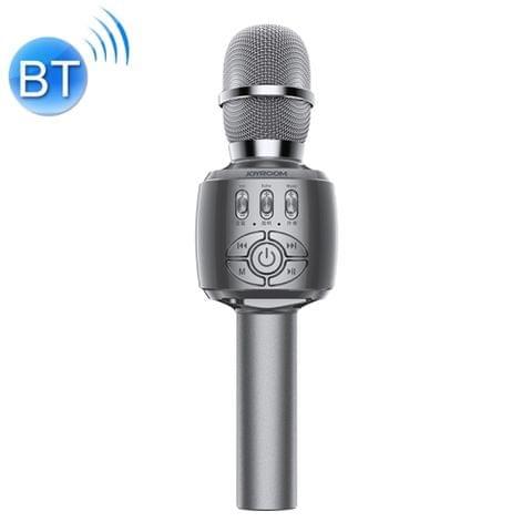 JOYROOM JR-MC2 Wireless Bluetooth External K Song Capacitive Microphone, Supports TF Card & 3.5mm Jack(Dark Gray)