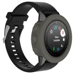Solid Color Silicone Watch Protective Case for Garmin 5 / 5S / 5X(Grey)