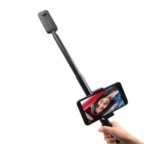 STARTRC 1.1m Extendable Selfie Stick Aluminum Monopod with Phone Clamp for Insta360 ONE / ONE X / EVO