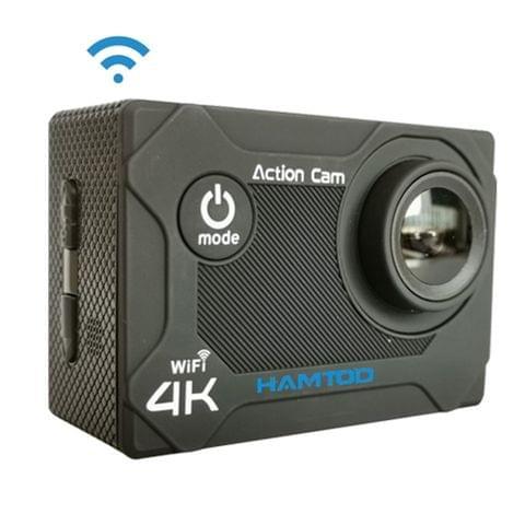 HAMTOD S9 UHD 4K WiFi  Sport Camera with Waterproof Case, Generalplus 4247, 2.0 inch LCD Screen, 170 Degree Wide Angle Lens (Black)
