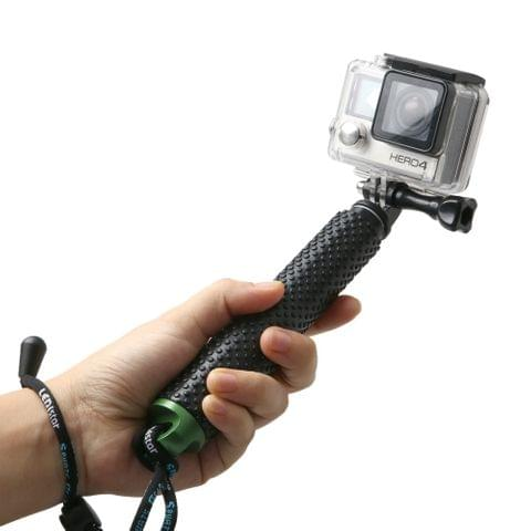 Handheld Extendable Pole Monopod with Screw for GoPro HERO5 Session /5 /4 Session /4 /3+ /3 /2 /1, Xiaoyi Sport Cameras, Max Length: 49cm(Green)