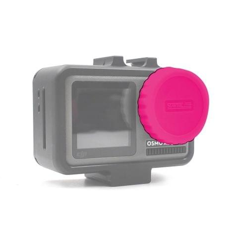 STARTRC Dedicated Silicone Lens Cap for DJI OSMO Action(Rose Red)