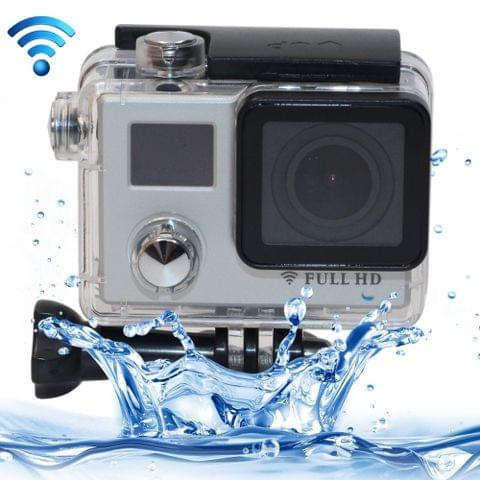 F88BR 4K Portable WiFi Waterproof StarVision Sport Camera with Remote Control, 0.66 inch LED & 2.0 inch LCD, 170 Degrees Wide Angle Lens, Support TF Card / HDMI (Silver)