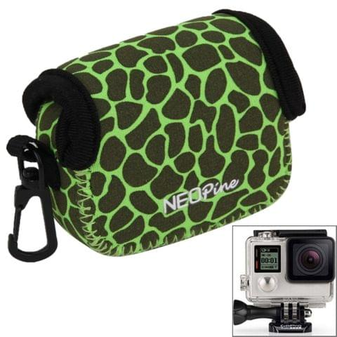 NEOPine GN-6 Leopard Texture GoPro Accessories Waterproof Housing Neoprene Inner Protective Bag Camera Pouch for GoPro Hero4 /3+ /3(Green)