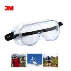 3M 1621 Safety Glasses Chemical Splash Goggles Adjustable Headband Protective Eyewear Anti-Fog Goggles Impact Resistance Lens