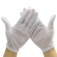 20pcs/Pack Anti-static Gloves Stripe Breathable Working Gloves
