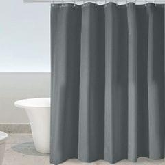 Htovila 72 * 72'' Polyester Waterproof Mildewproof Shower Curtain Decorative Privacy Protection Bathroom Curtain with 12pcs Hooks--Grey