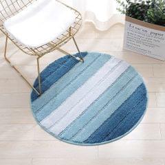 Bath Mat Round Carpet Soft Polyester Microfiber Floor Rug