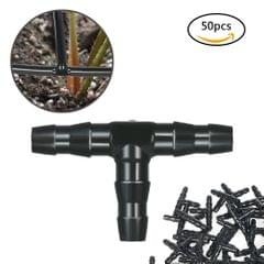50pcs Sets Tee Joint Hose Connecto Irrigation Barbed Water Pipe Watering System
