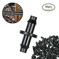 50pcs 1/4 Inch PVC Barbed Connector Tubing Coupling Connecto Water Drip Irrigation for Greenhouse