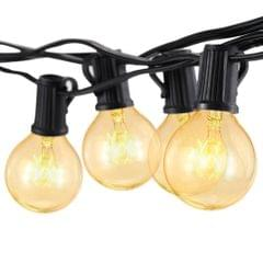 Tomshine 175W 25FT E12 G40 Incandescent String Light with 2 Spare Bulbs
