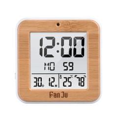 FanJu Mini Portable Digital Clock with Temperature Date Time Display Good Multifunctional LCD Alarm Clock for Traveling Business Trip