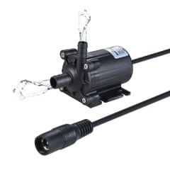 Compact Size Dual-Outlet Submeible Brushless Oil Water Pump Ultra-quiet Max. Lift 5M 450L/H DC 12V for Fish Tank Aquarium Fountain Circulating