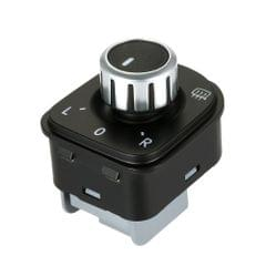 Car Side View Mirror Rear View Mirror Switch Adjust Plating Control Knob with Heat for VW Golf 5/Sagitar/GTI