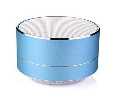 DOITSHOP A18 P10 Wireless 3W Super Bass Mini Metal Aluminium Alloy Portable Bluetooth Speaker with Mic (Blue)