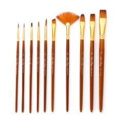 10pcs Paint Brushes Set Kit