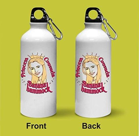 Crazy Sutra Classic Printed Quote Water Bottle/Sipper - 600Ml (PrincessConsuela_S)