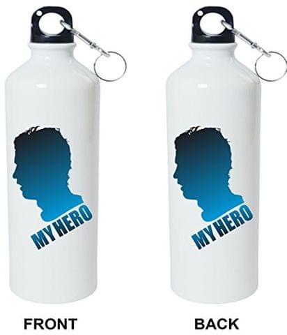 Crazy Sutra Classic Printed Quote Water Bottle/Sipper - 600Ml (MyHero_Sh)