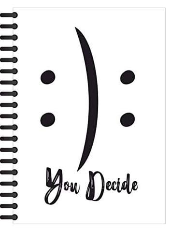 Crazy Sutra Premium Single Ruled Paper Cover Notebook (100pages) Spiral Bound for Personal Diary, Doodle, Notes, Planner - A5 Size [Note-YouDecide_C]