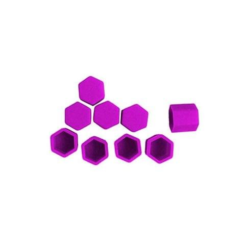 Pack of 20 Car SUV Wheel Tire Screw Bolt Cover Cap Lug Nuts 17mm - purple